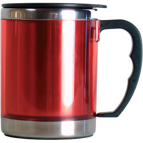 Basic Nature Stainless Steel Thermal Cup 420ml, rosso